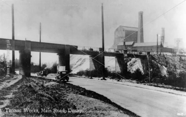 Tarmac Works, Derby Road, Denby, c 1940s