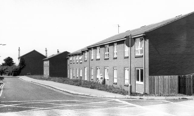 Old peoples' warden aided flats, Field Terrace, Ripley, c 1980s