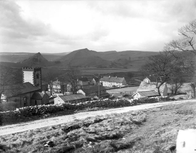 The Village, Church and surrounding landscape, Earl Sterndale