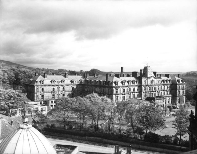 The Palace Hotel looking from the Devonshire Royal Hospital Roof
