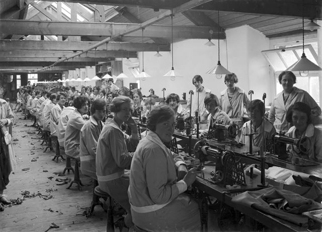 Baker and Sons, clothing factory
