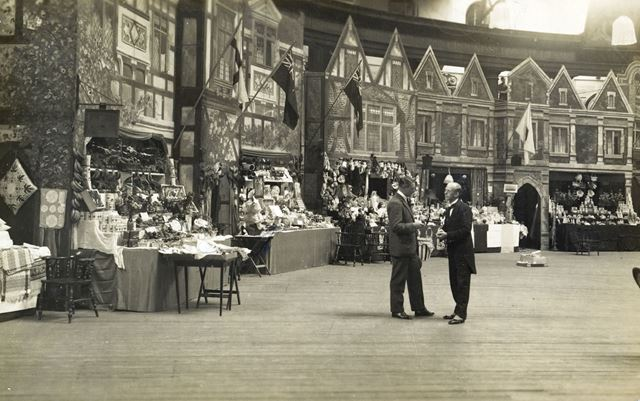 Indoor market bazaar at the Devonshire Hospital, Buxton, 1920s ?