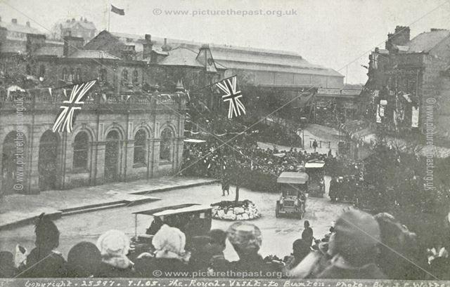 Royal visit, The Crescent, Buxton, 1905
