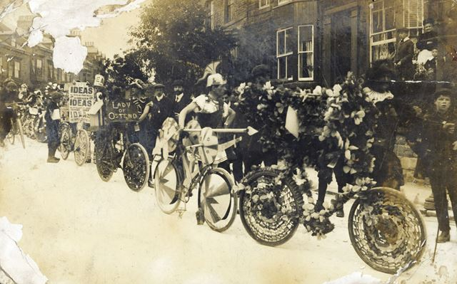 Decorated bicycles, Fairfield, c 1912 ?