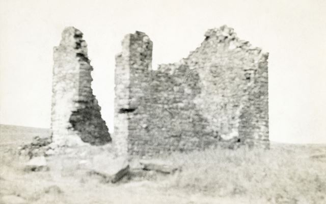 Ruins of engine house, Thatch Marsh Colliery, Axe Edge Moor, Burbage, undated