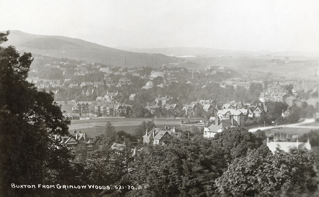 View of Buxton from Grinlow Woods, Burbage
