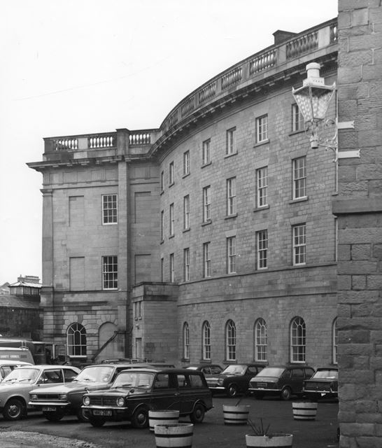 Back view of car park, The Crescent, Buxton