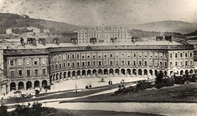 The Crescent and Palace Hotel, Buxton, c 1870s