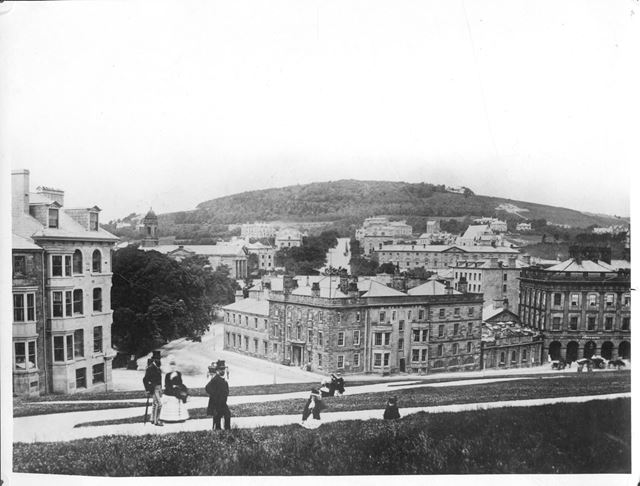 The Old Hall Hotel, Devonshire Hospital (without dome) and Devonshire Park Chapel (without spire)
