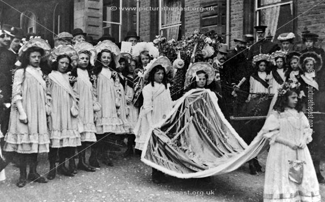 Carnival Parade. Rosebud Queen on foot.
