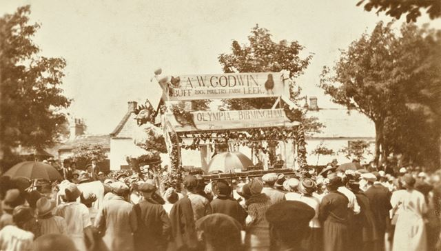 Godwin's float decorated for the Carnival.