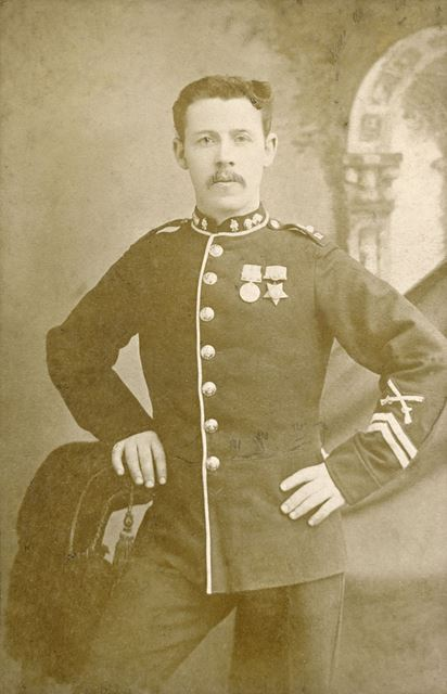 Actor in Military costume - the Pavilion Theatre