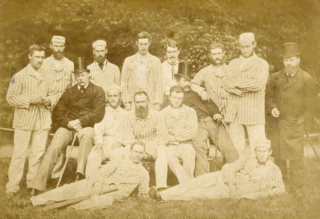 Buxton Cricket Club c 1878. Unofficial party of Australian cricketers