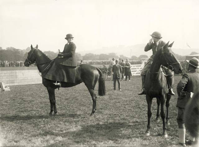 Ladies riding possibly at Bakewell Show, 1922