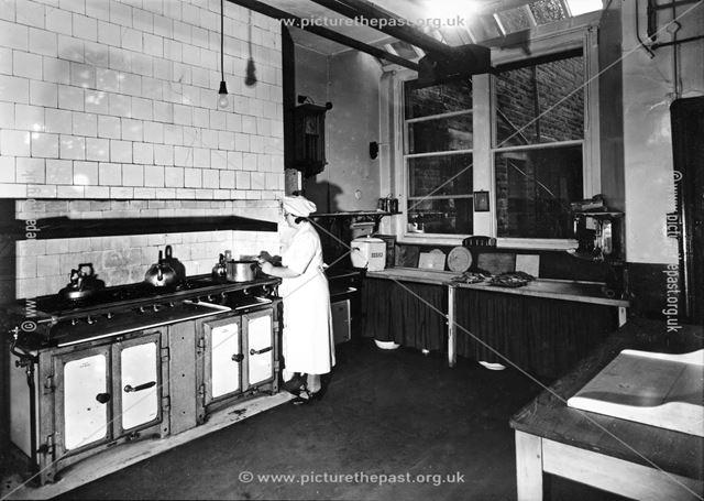 Kitchen, St Anne's Hotel, The Crescent, Buxton, 1956