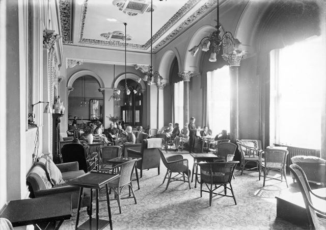 The Lounge of The Palace Hotel, Palace Road, Buxton, 1931