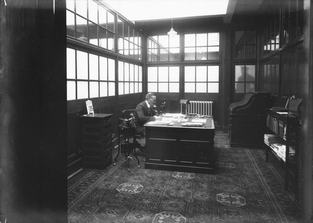 Works Manager's office, Ferodo Brake Linings Ltd, Chapel-en-le-Frith, c 1930