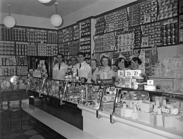 Interior of Maypole Store, Spring Gardens, Buxton, 1960s