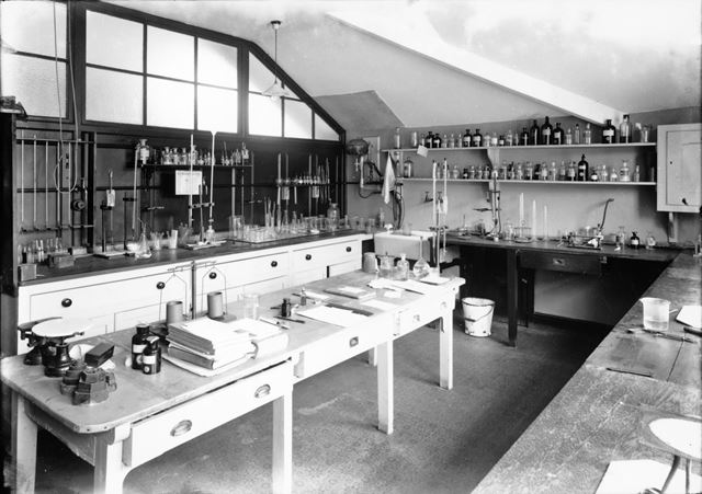 Laboratory, Devonshire Royal Hospital, Devonshire Road, Buxton, c 1936
