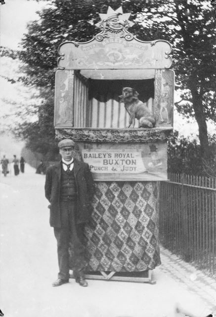 Baileys Royal Punch and Judy Show, Broad Walk, Buxton, c 1900