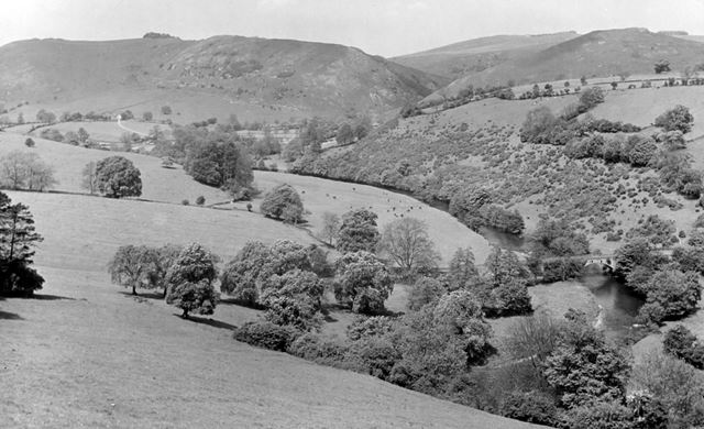 View across the Dove Valley, Blore, Staffordshire, c 1930s