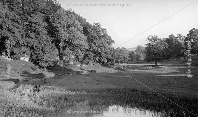 The River Lathkill, Below the Bridge, c 1930s