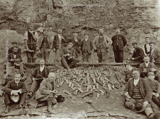 Excavated bones near Brassington Moor (Harborough Cave ?)