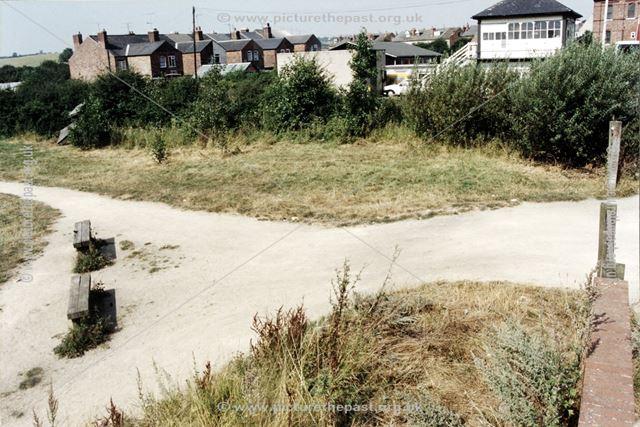 Pinxton Wharf from Alexander Terrace, Pinxton, c 1980s-90s