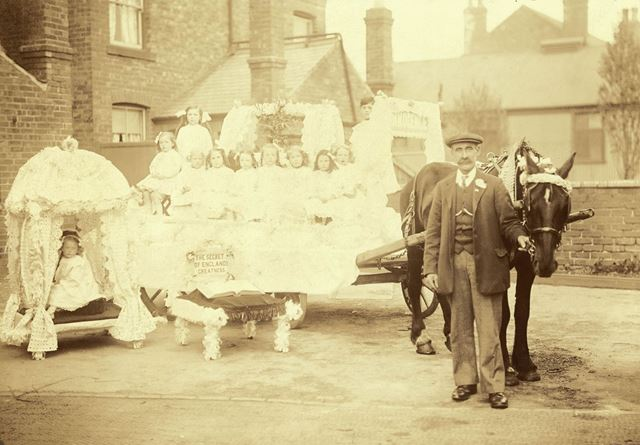 Bolsover Sunday School Whitsuntide demonstration -Hillstown Wesleyans float