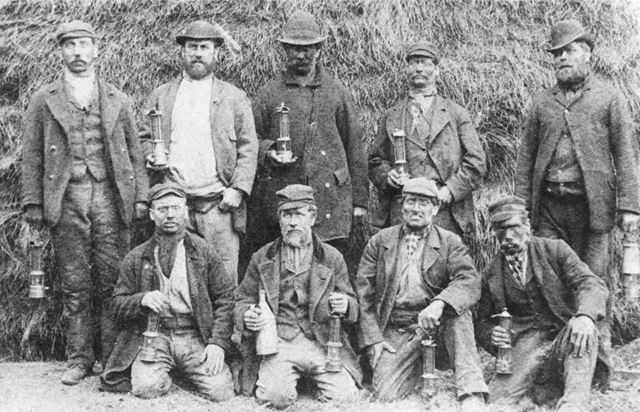 Group of Miners in the pit yard