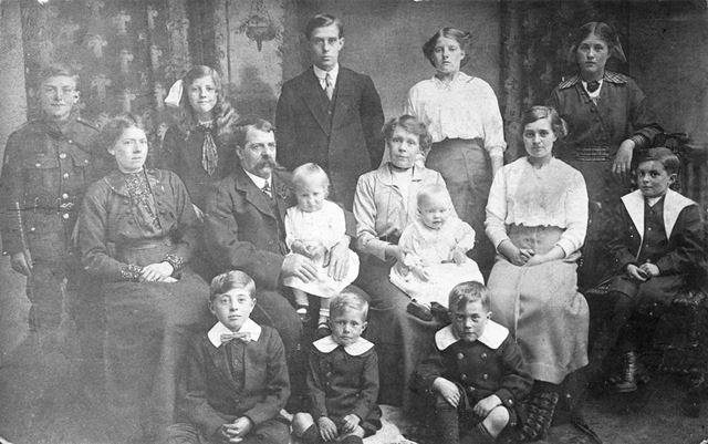 The Rice Family, Elmton Road, Creswell, c 1900