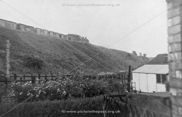'Last train on the [dismantled railway line]', Shirebrook, 1960s
