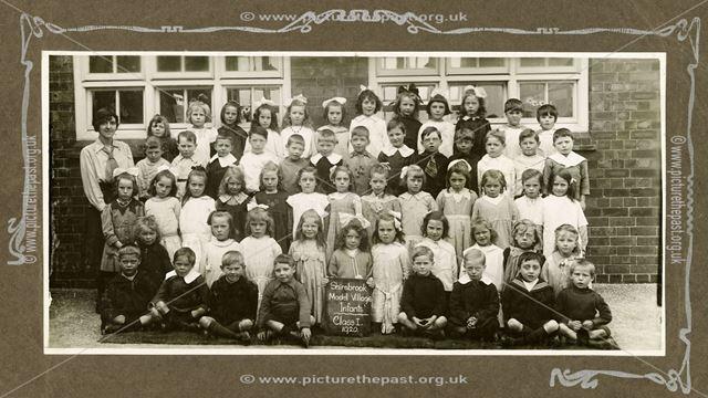 Shirebrook Model Village School, Infants Class 1, 1920