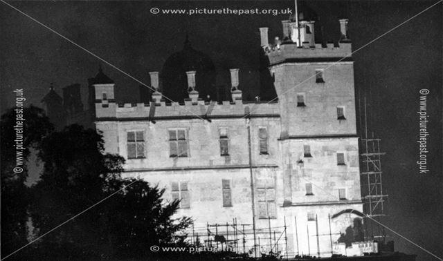 Bolsover Castle - Little Castle floodlit