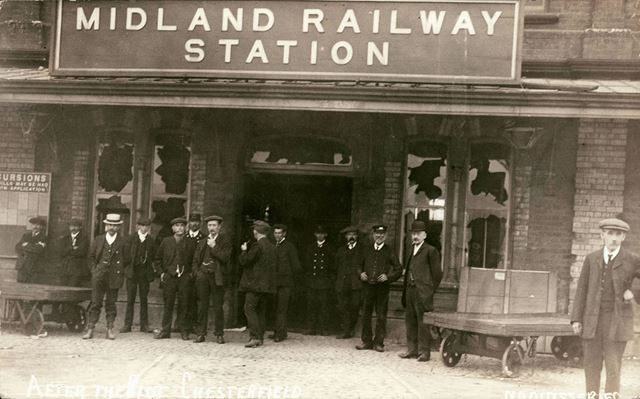 The Midland Railway Station, after the 1911 Riot.