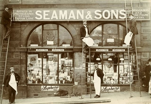 Seaman and Sons photographic shop in the Market Hall