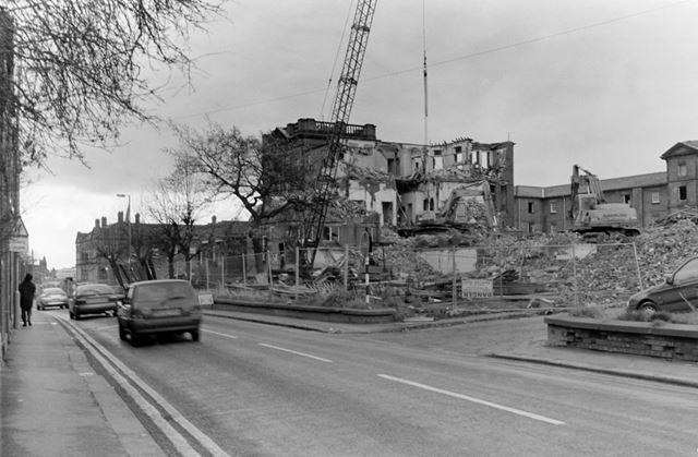 Scarsdale Hospital during demolition