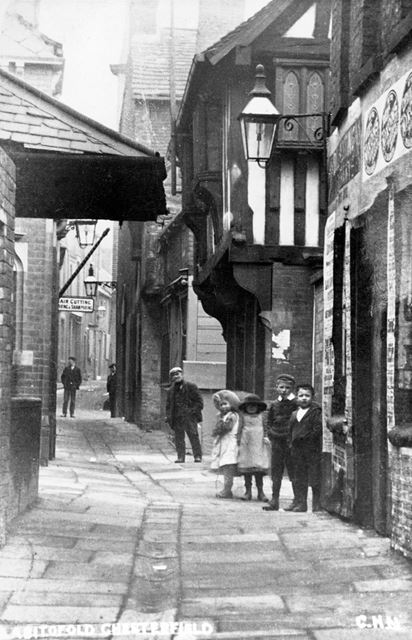 The Shambles and The Royal Oak public house c 1910