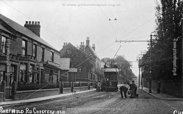A Brampton Tram (car no 6) on Sheffield Road