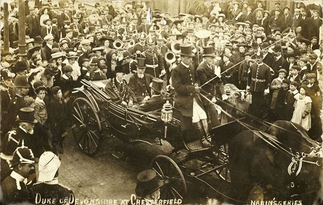 The 9th Duke of Devonshire at Chesterfield, 1906