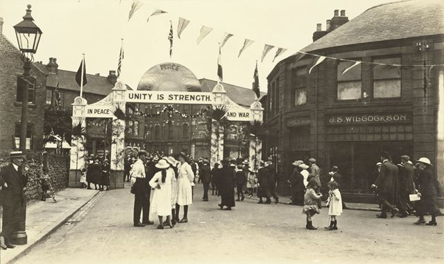 Armistice Celebration Arch at the end of World War 1