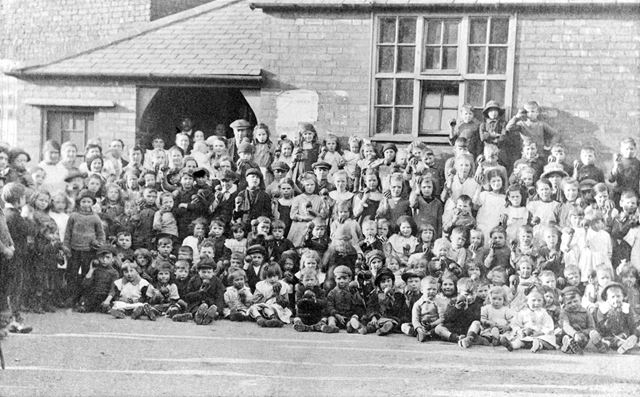 The Ragged School children - after the Whit Monday Sunday School Procession
