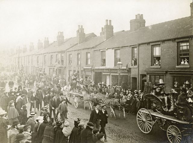 Parade of Barnum and Bailey's Circus (who were performing at Sheffield on December 8 1899)