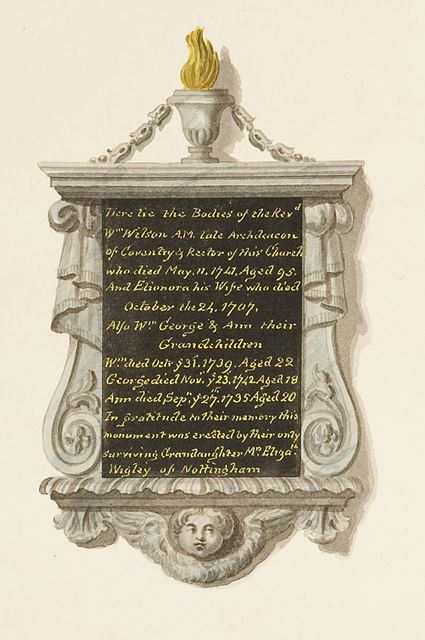 Monument of Rev W Wilson