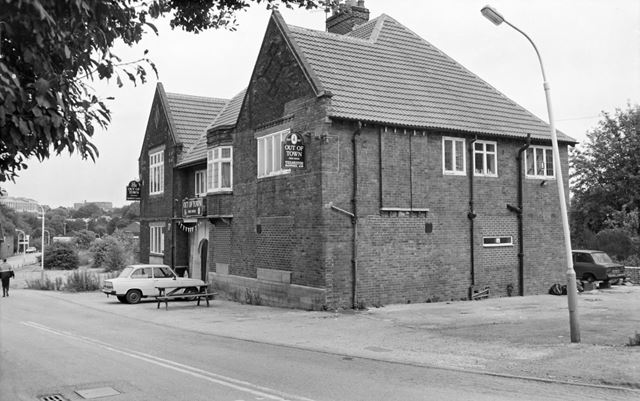 Out of Town public house, Goytside, Brampton, Chesterfield, 1991