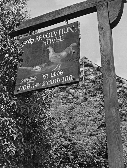 Revolution House Sign, Old Whittington, Chesterfield, 1946