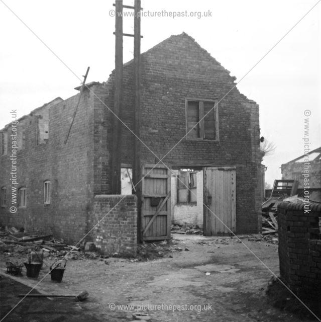 Demolition of Metcalf's Coachworks, Saltergate, Chesterfield, 1974