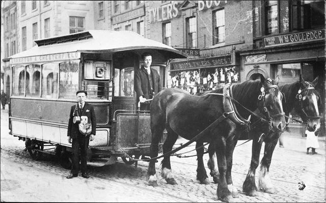 Tram Car 8, Low Pavement, Chesterfield, c 1900