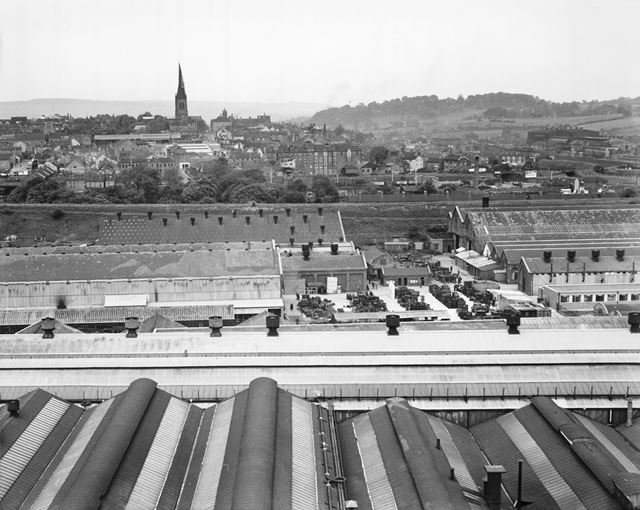 View from Chesterfield Tube Company, Derby Road, Chesterfield, 1958