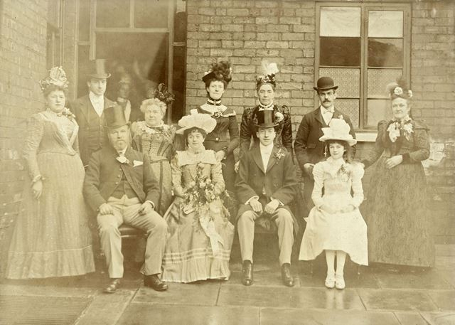 A Brampton wedding, Chesterfield, c 1900